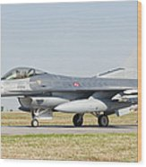 An F-16c Block 50 Of The Turkish Air Wood Print