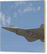 An F-22 Raptor Takes Flight Wood Print