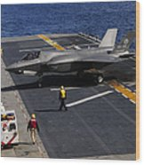 An F-35b Lightning II Makes A Vertical Wood Print