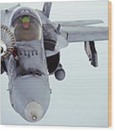 An Fa-18 Super Hornet Receives Fuel Wood Print