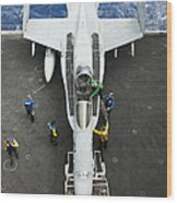 An Fa-18c Hornet Aircraft Wood Print