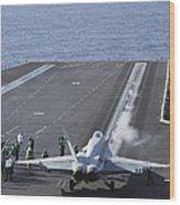 An Fa-18d Hornet Launches Wood Print