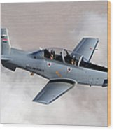 An Iraqi Air Force T-6 Texan Trainer Wood Print