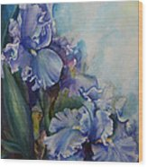 An Iris For My Love Wood Print