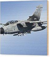 An Italian Air Force Tornado Ids Wood Print