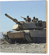 An M1a1 Main Battle Tank Wood Print