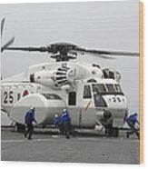 An Mh-53e Super Stallion Helicopter Wood Print