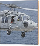 An Mh-60s Sea Hawk Search And Rescue Wood Print