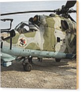 An Mi-24 Russian Helicopter Wood Print