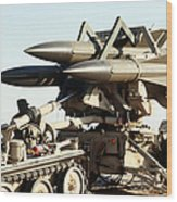 An Mim-23b Hawk Surface-to-air Missile Wood Print