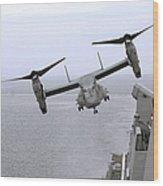 An Mv-22b Osprey Takes Wood Print
