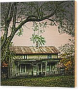 An Old Home Place Wood Print