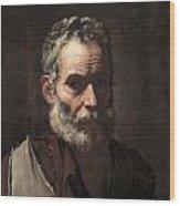 An Old Man Wood Print