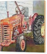 An Old Tractor Wood Print