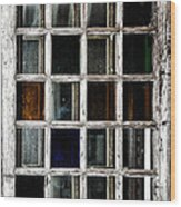 An Old Window Pane Wood Print