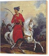 An Ottoman On Horseback Wood Print