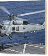 An Sh-60b Seahawk Helicopter Performs Wood Print
