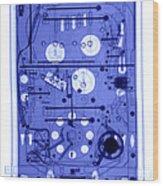 An X-ray Of A Pinball Machine Wood Print