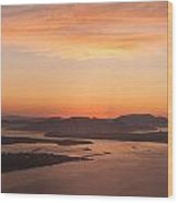 Anacortes Islands Sunset Wood Print