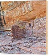 Anasazi Indian Ruin - Cedar Mesa Wood Print