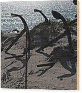Anchor Beach 15 Wood Print