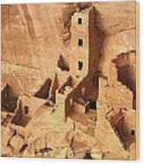 Ancient Anasazi Indian Cliff Dwellings Wood Print