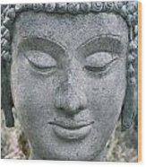 Ancient Buddha Statue Wood Print