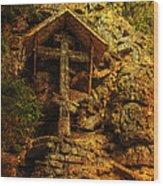 Ancient Cross. Holy Island  Wood Print