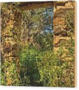 Ancient Doorway Wood Print