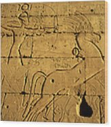 Ancient Egyptian Carving, Ramesseum Temple, Luxor Wood Print