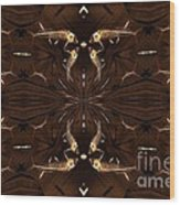 Ancient Fish Bones Wood Print