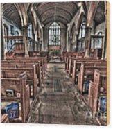 Ancient Lingfield Church Wood Print