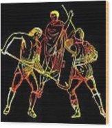 Ancient Roman Gladiators Wood Print