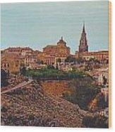 Ancient Spanish City Wood Print