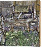 Ancient Wagon Frame Wood Print