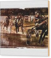 and the winner is - A vintage processed Menorca trotting race Wood Print