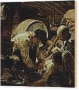 And They Still Say Fish Is Expensive Wood Print by Joaquin Sorolla y Bastida