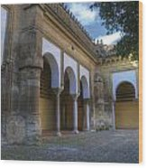 Andalusian Courtyard Wood Print