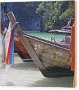 Andaman Sea Water Taxi Wood Print