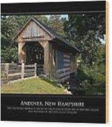 Andover Nh Historical Bridge Wood Print by Jim McDonald Photography
