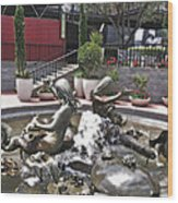 Andrea's Fountain At Ghirardelli Square Wood Print
