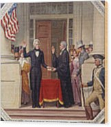 Andrew Jackson At The First Capitol Inauguration - C 1829 Wood Print