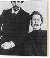 Andreyev And Gorki Wood Print