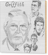 Andy Griffith Wood Print by Gail Schmiedlin