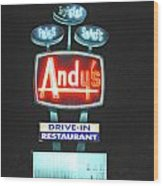 Andy's Drive-in Wood Print