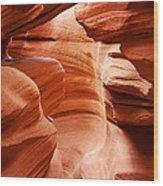Anelope Canyon - What A Wonderful World Wood Print