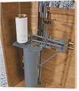 Anemometer Wood Print