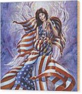 Angel America Wood Print