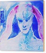 Angel Blue Wood Print