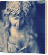 Angel Wood Print by Bret Worrell